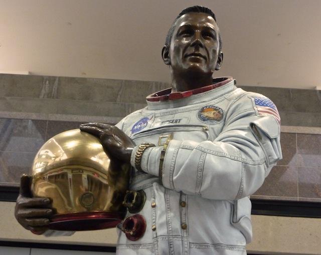 """Statue of John L. """"Jack"""" Swigert, Jr. at Denver Internatio ..."""