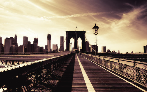 Brooklyn Bridge and the New York City Skyline | by Vivienne Gucwa
