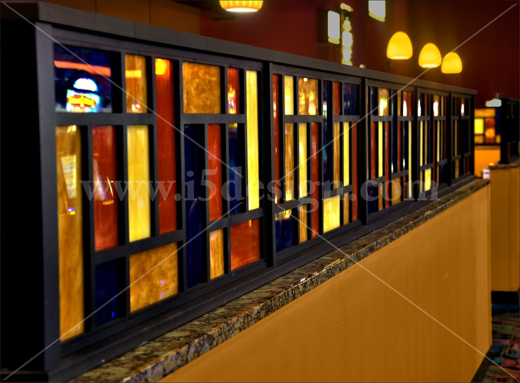 Restaurant Bar Wall Decor : Custom d?cor elements half wall interior restau