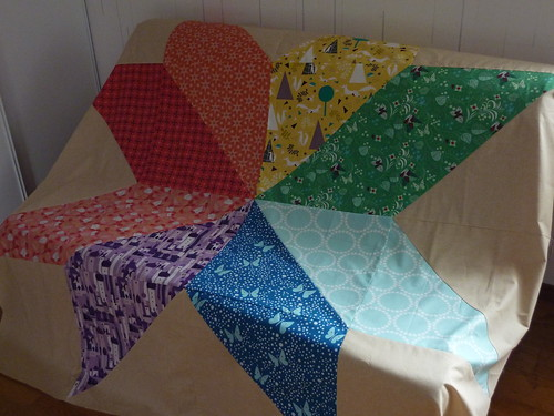 Giant Rainbow Star Quilt Top | by Madame Créative