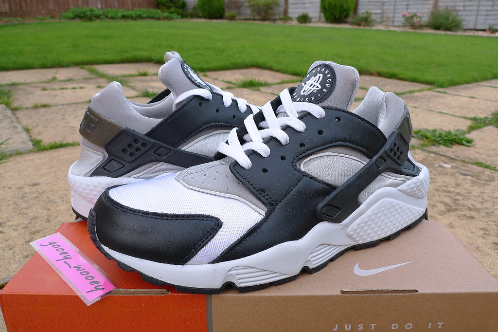 black white grey huaraches