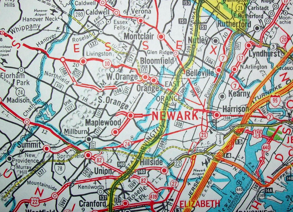 Northern New Jersey Sept 1972 Map by Hagstrom Maps Flickr