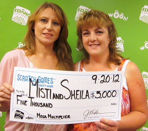 Misti Hughes and Sheila Scheider - $5,000 Mega Multiplier | by Idaho Lottery
