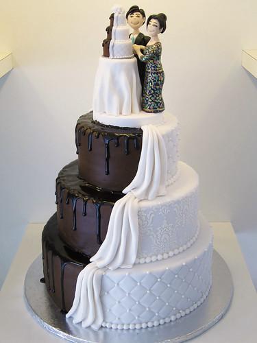 Half Chocolate Wedding Cake