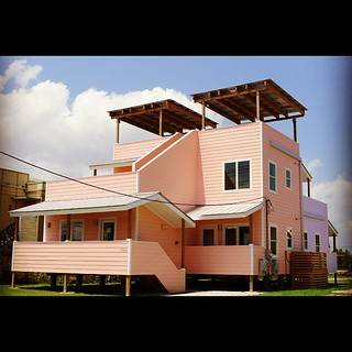 One of the biggest houses; the roof of the upstairs patio is solar paneled http://www.makeitrightnola.org/ #lowerninthward #neworleans | by chotda