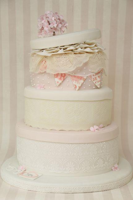 Hochzeitstorte Vintage Hutschachteln shabby chic rosa  Flickr