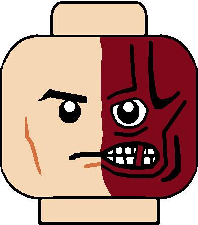Arkham City Two Face Head It Is A Custom Lego Arkham