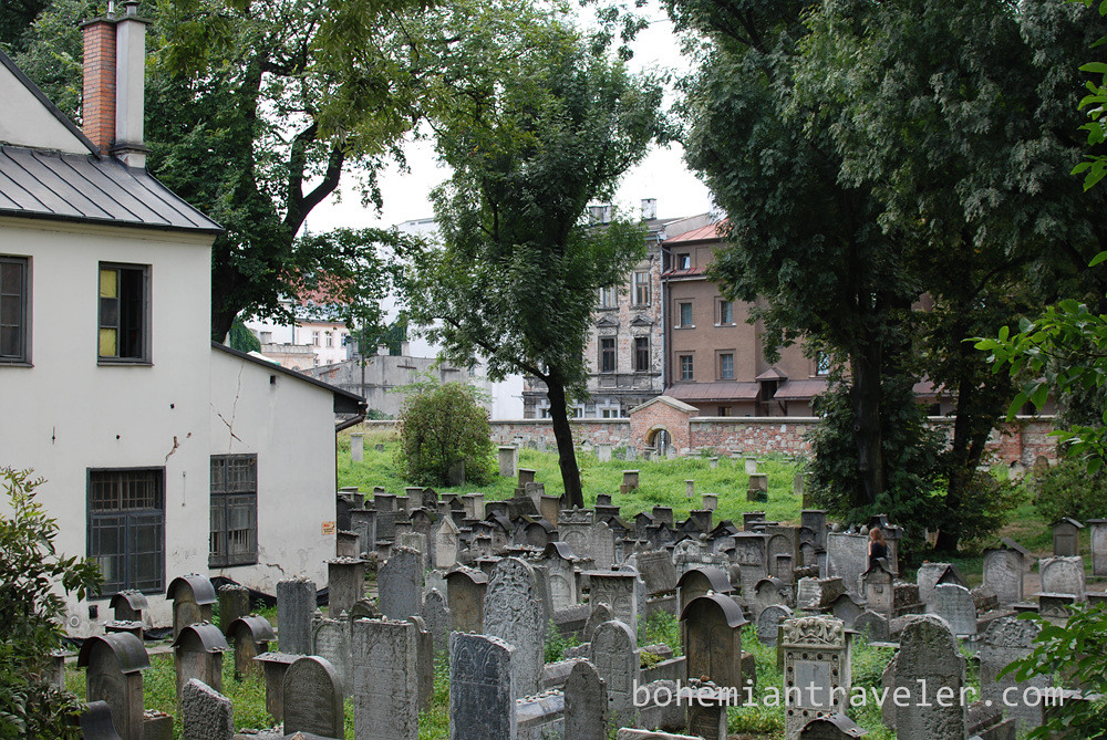 cemetery at Old Synagogue Kazimierz Krakow Poland
