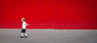 the red wall and the boy | by greg westfall.