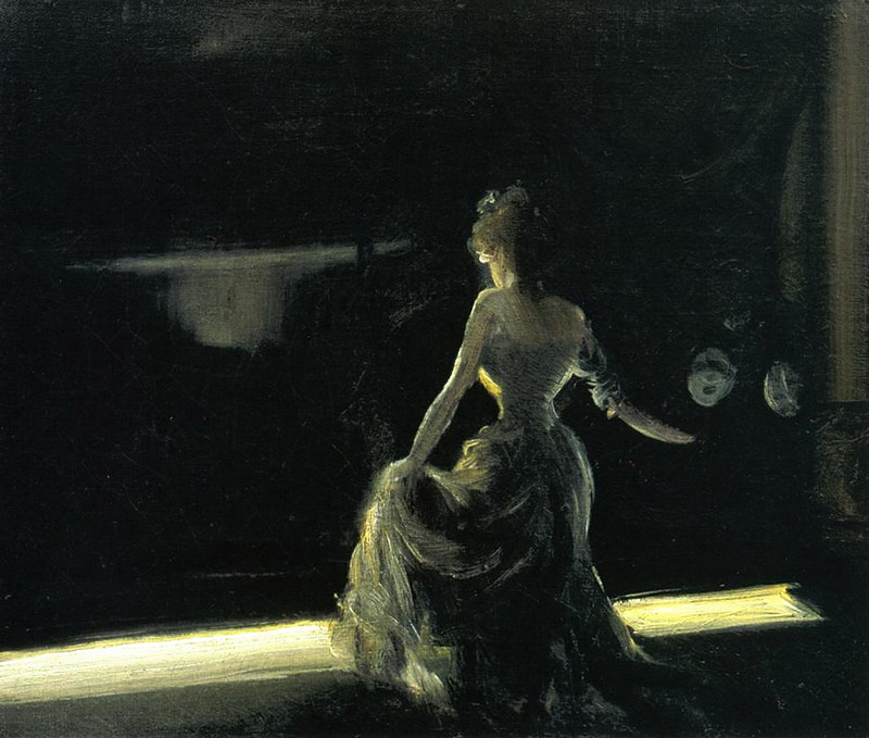 everett_shinn_girl_on_stage