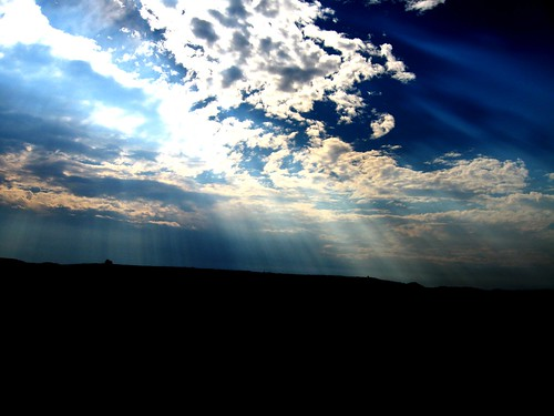 Rays of the Sun Breaking Through the Clouds, Theodore Roosevelt National Park (South Unit), ND | by DylanF77
