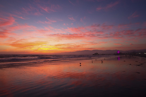 santa monica low tide sunset | by sjg310