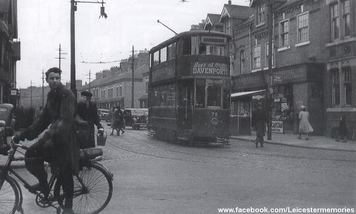 Knitting Queens Road Leicester : Leicester trams clarendon park queens road corner in the