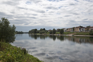 Clouds reflection on Ticino river, Pavia, Italy. | by Gennari Davide