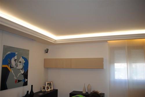 Clairage indirect en staff www for Decoration faux plafond avec gorge lumineuse