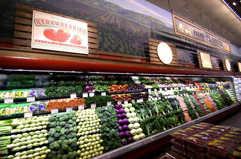 displays table produce grocery display brown rack racks ideas