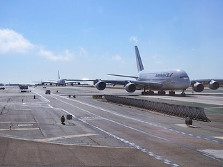 A380 line-up at LAX | by kenjet