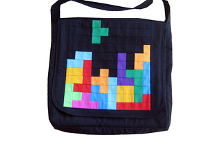 DS's new Tetris messenger tote | by paulapatchwork