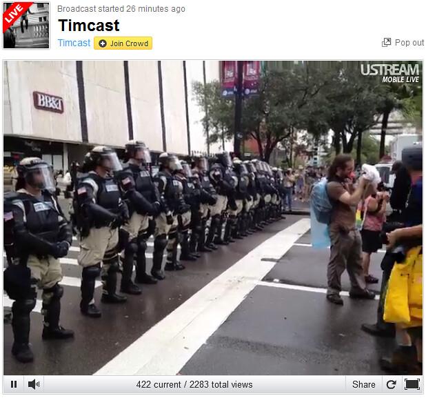 RNC Timcast Riot Police line
