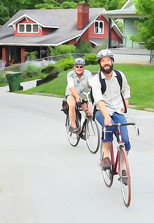 wc waynesville avenue bicyclists | by zen