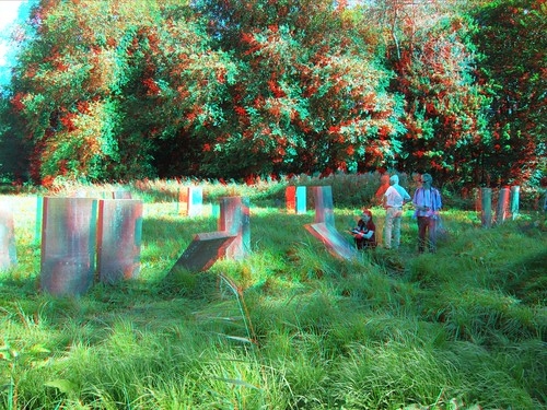 Jewish cemetery in Amsterdam, 3D photo (anaglyph) | by Stereomania