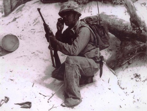 Code talker on Tarawa, November 1943 | by Archives Branch, USMC History Division