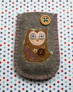 Brown Owl Felt Gadget Sleeve | by suezybees