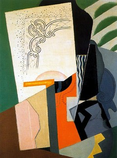 Blanchard, Maria (1881-1932) - 1916-19 Cubist Composition (Reina Sofia Museum, Madrid, Spain) | by RasMarley