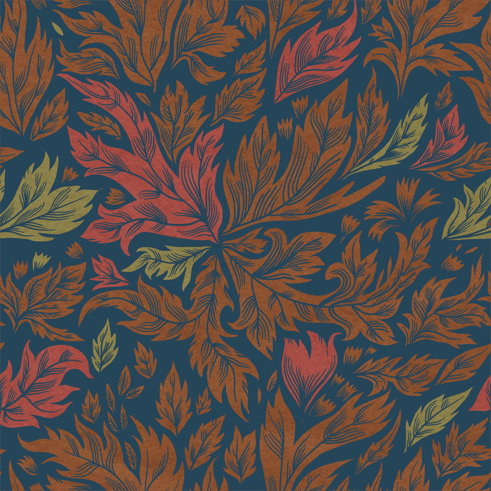 fall pattern 2, repeatable tile | olivia mew | Flickr