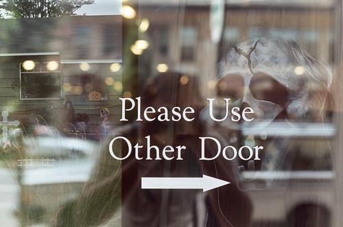 use other door, ghouls | by nessavay