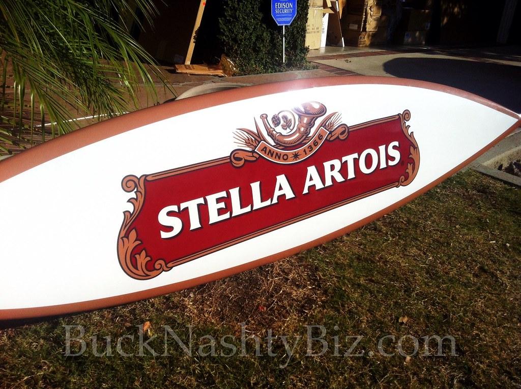 Stella Artois Promotional Surfboard Beer Sign Stella Artoi Flickr
