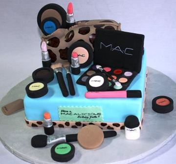 MAC-A-Licious Makeup Birthday Cake  by Jeanne AJs Moonlight Bakery