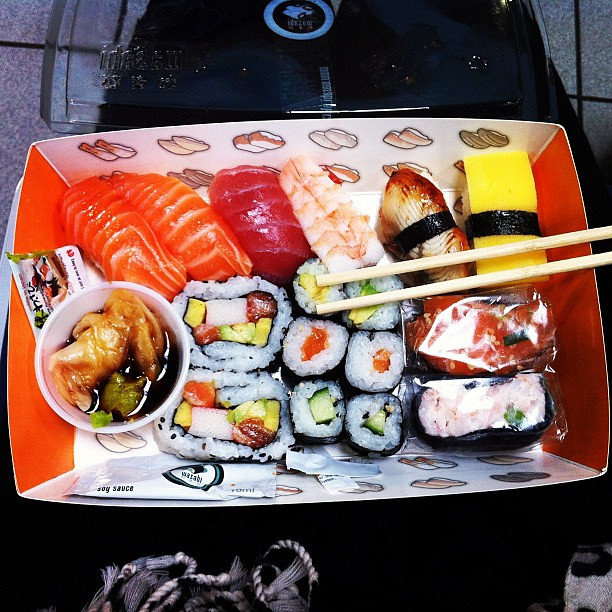 lunch in a bento box london airport lunch food japane flickr. Black Bedroom Furniture Sets. Home Design Ideas