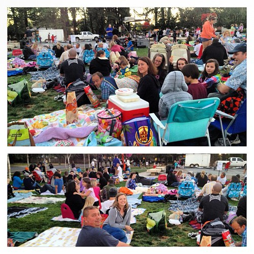 Yammie fammie night watching the Goonies in the park with @elizabethagh @gabrien @hipfabric - wishing all the Yams were here! | by Happy Zombie