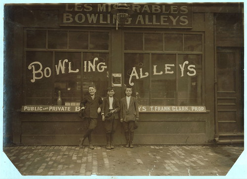Pin boys in Les Miserables Alleys ... Location: Lowell, Massachusetts (LOC) | by The Library of Congress