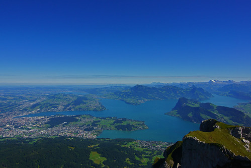 looking down on luzern from Mount Pilatus | by la-ong