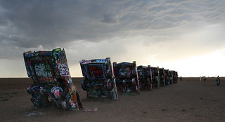 Cadillac Ranch at dusk. | by no stone unstrung