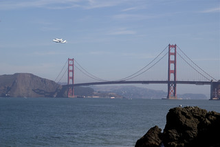 Endeavour over Golden Gate Bridge | by David Gallagher
