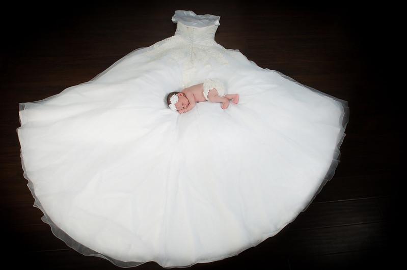Newborn Wedding Dress 7 Perfect Sweet baby girl in