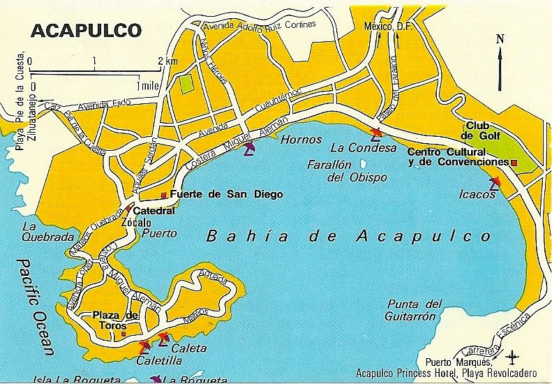Map of Acapulco 1979 Located on the Pacific Coast south o Flickr