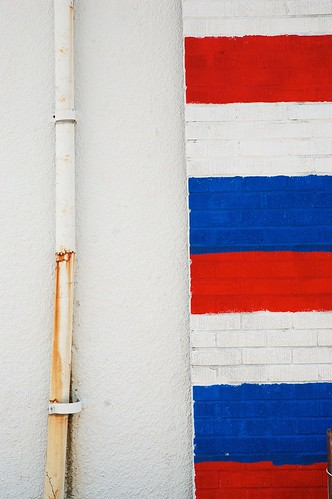 Rusted Drain Pipe & The Red, White and Blue | by Steve Snodgrass