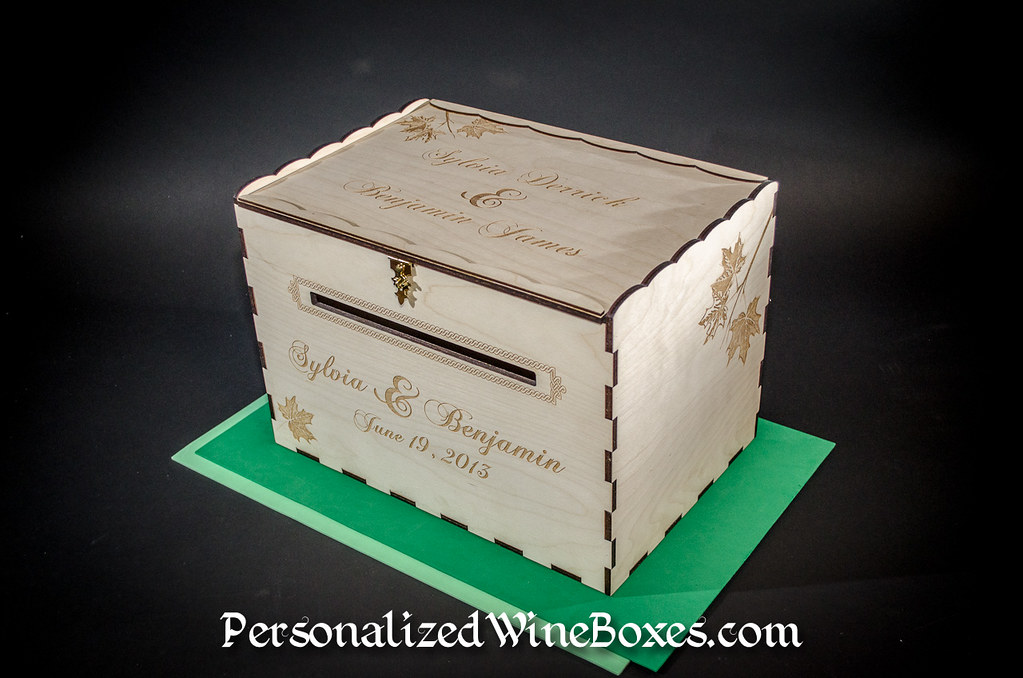 Wood Wedding Card Box for Sylvia & Benjamin Visit my Woods ...