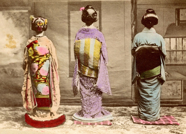 Dressed for Shubun-no-hi 1890s