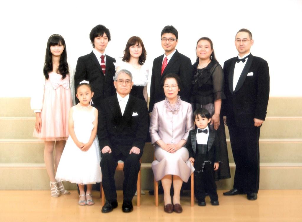 金婚式 家族写真 1