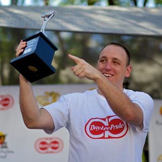 Joey Chestnut - Day-Lee Foods World Gyoza Eating Championship - Nisei Week 2012 | by --Mark--
