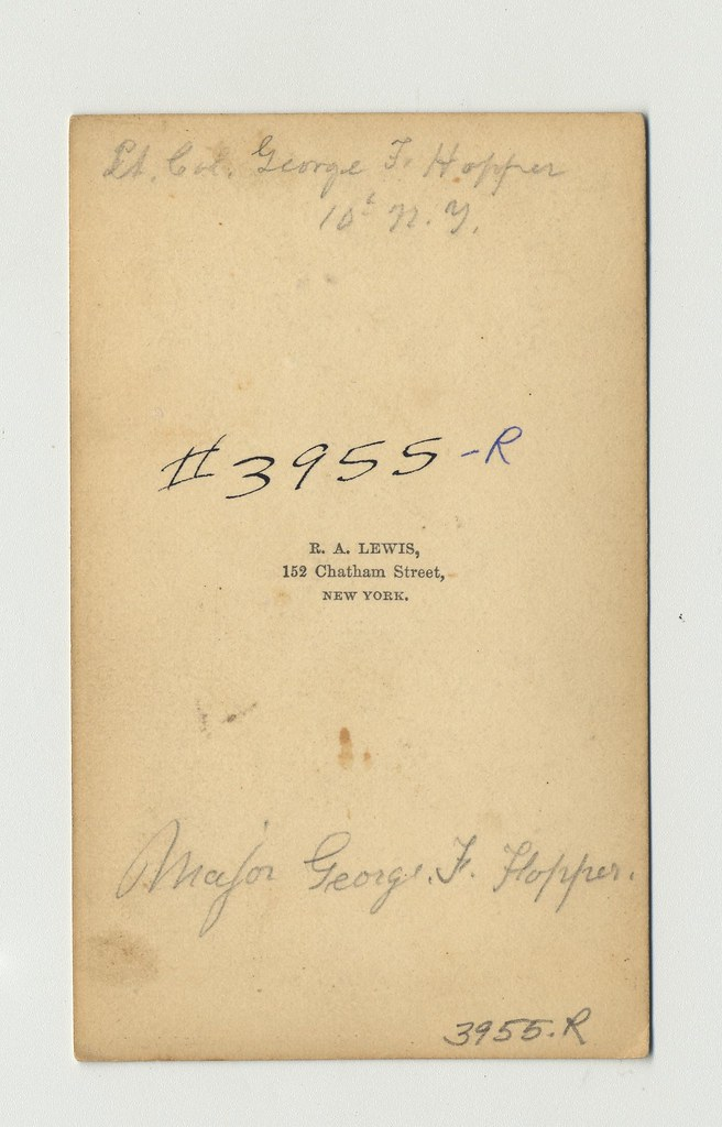 George Faulkner Hopper Carte De Visite By R A Lewis New