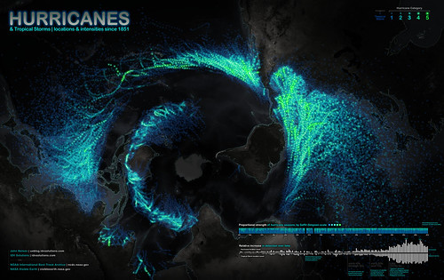 Hurricanes Since 1851 | by www.IDVsolutions.com
