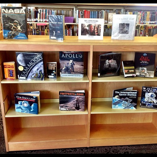 Lovely tribute to Neil Armstrong at our local public library. #WinkAtTheMoon | by AGeekMom