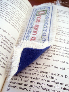 Once Upon a Time cross-stitch bookmark - back | by thestitcherati