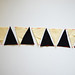 DIY: geometric black & white garland